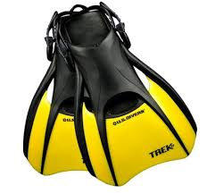 US diver yellow and black snorkel fins