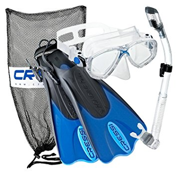 Cressi Palau Snorkel Set for Women with Dry Snorkel