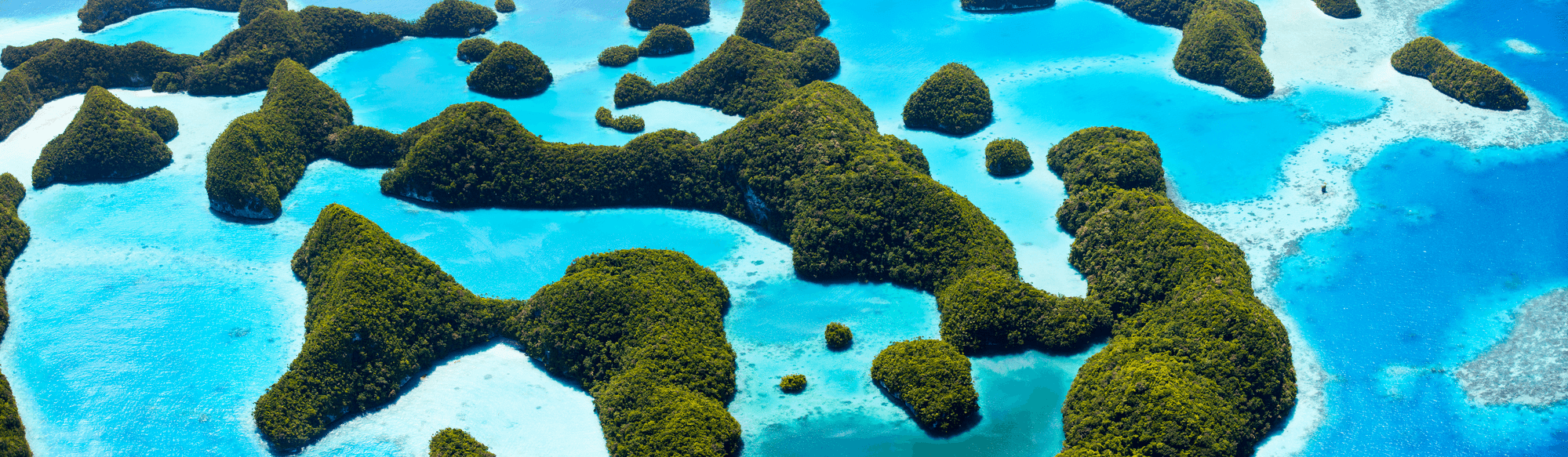 palau islands and reefs view