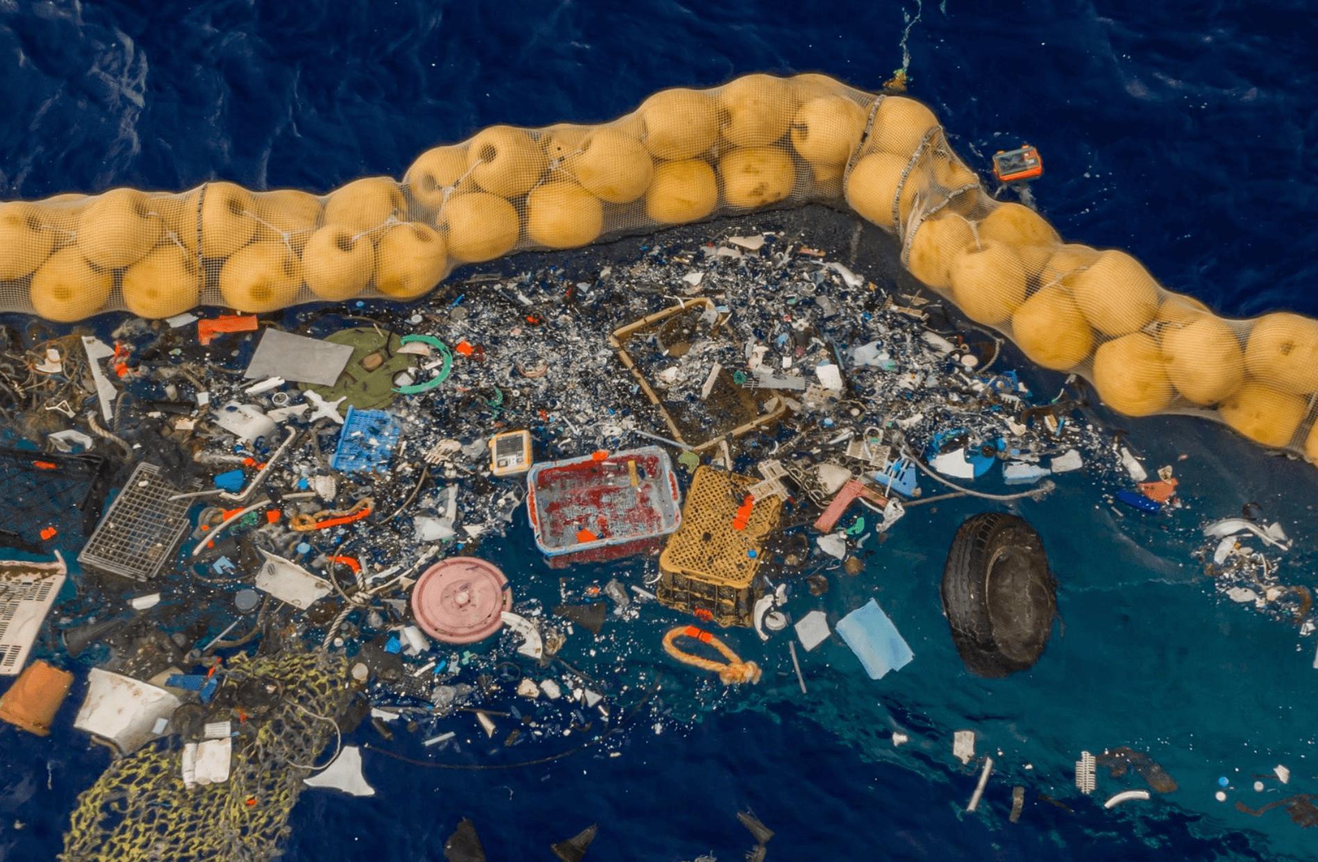 catching plastics in the ocean
